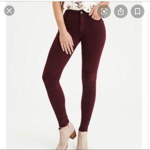 American Eagle maroon Jeans